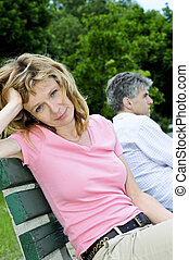 Mature couple having relationship problems - Mature man and ...