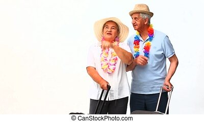 Mature couple in holidays
