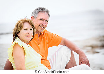 Mature couple on holidays - Close-up of a mature couple...
