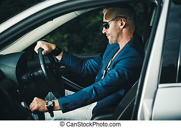 mature driver man