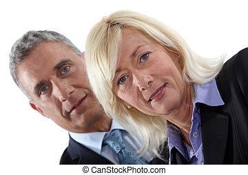 Mature executive couple
