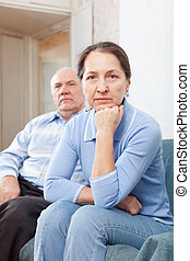 Mature family quarrel - Mature women having problems with...