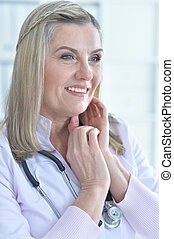 female doctor with stethoscope