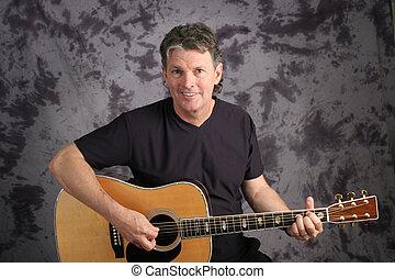 Mature Guitarist
