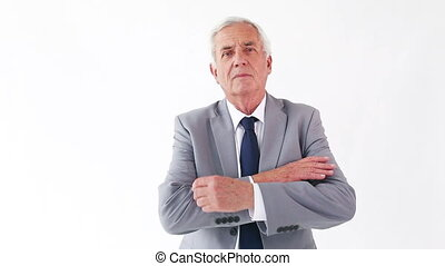 Mature man crossing his arms