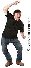 Mature Man Dances