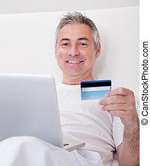 Mature Man Shopping Online