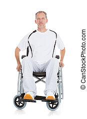 Mature Man Wheelchair