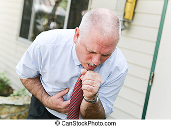Mature Man with Cough