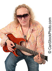 Mature man with guitar