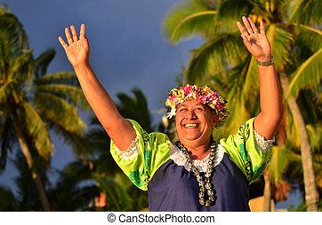 Mature Polynesian Pacific Island Woman