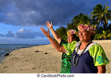 Mature Polynesian Pacific Island Women