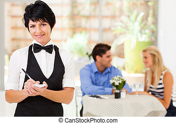 mature waitress