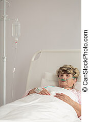Mature woman after operation