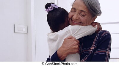 Mature woman and her granddaughter