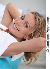 mature woman in a spa