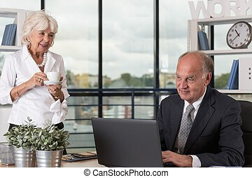 Mature woman in office