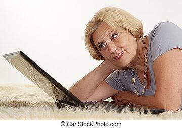 Mature woman relaxing