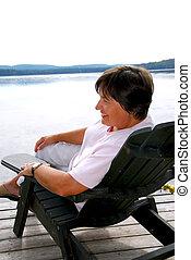 Mature woman relax