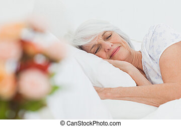 Mature woman sleeping