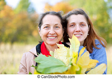 mature woman with adult daughter