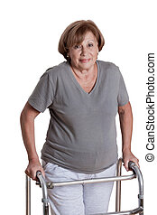 Mature Woman with walker