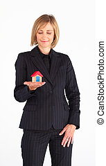 Mature woman working as a real state agent