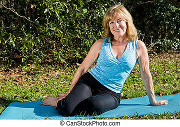Mature Woman Yoga