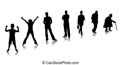 Maturing person - Stages of a growing of the person, from...