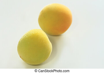 maturo, frutte, di, ume