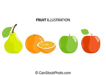 maturo, frutte