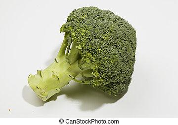 maturo, isolato, broccolo, fondo, cavolo, bianco