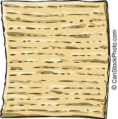 Matzah Matzo For Passover - Vector illustration of Matzo ...