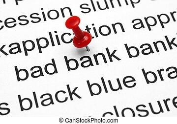 mau, operação bancária, conceito