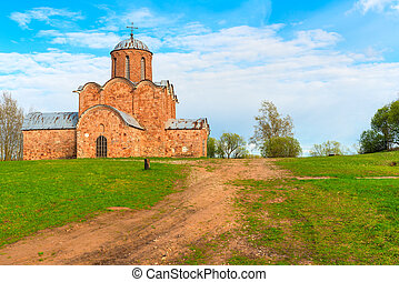 mauerstein, altes, Hügel, Kirche