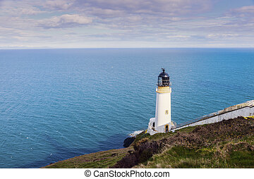 Maughold Head Lighthouse on the Isle of Man