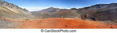maui, haleakala, panorama, cratera