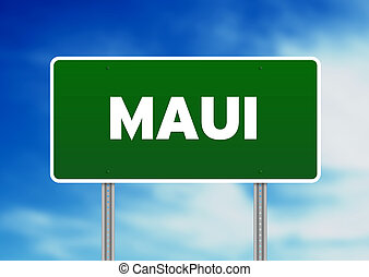Maui Highway Sign