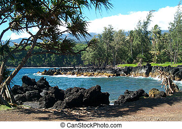 An inlet on the island of Maui, Hawaii