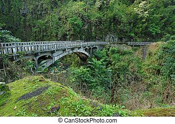 maui, puente, hana, hawai, camino