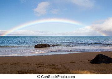 maui, regenbogen, aus