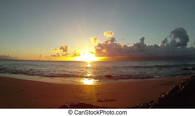 Maui Sunset 01 - Beautiful beach ocean sunset on the island...
