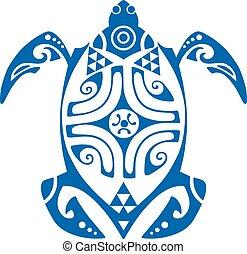 Maui Turtle Tattoo Motif