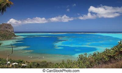 Maupiti Lagoon and Maupiti Island in French Polynesia