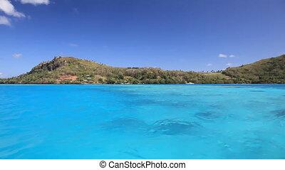 Maupiti - Magnificent Maupiti Lagoon in French Polynesia...