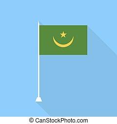 mauritánia, vektor, ábra, flag.