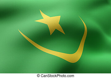 Mauritania 3d flag