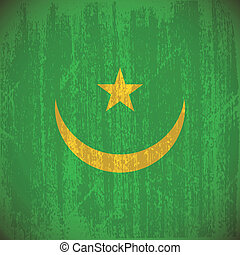 Mauritania - Abstract mauritania flag with special dirty...