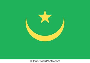 Mauritania flag - Vector Islamic Republic of Mauritania flag