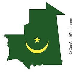 Mauritania Flag - Flag of the Islamic Republic of Mauritania...